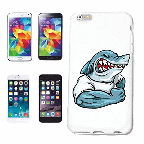 caja del teléfono iPhone 7 Shark EN CAMISA DEL MÚSCULO HAI Tiburón Tiburón ATAQUE BLANCO HAI Catshark Sandhai Tiger Shark Caso duro de la cubierta Teléfono Cubiertas cubierta para el Apple iPhone en