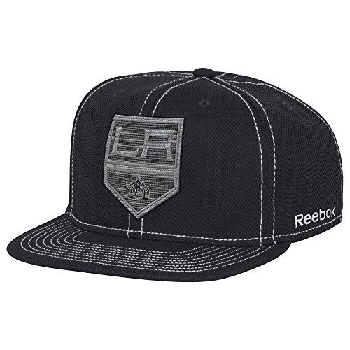 NHL Los Angeles Kings Adult men NHL Large Logo Boxy Snapback,OSFM,Black (Los Angeles Kings Reebok)