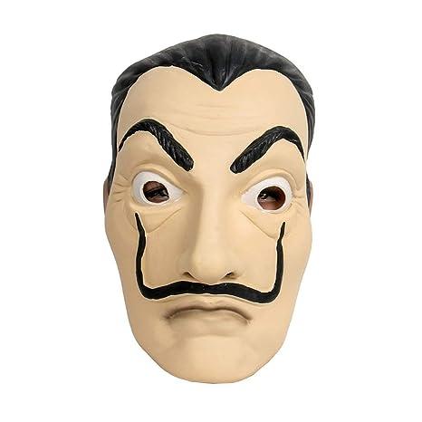 Amazon.com : Halloween Anime Masks La Casa De Papel Card ...