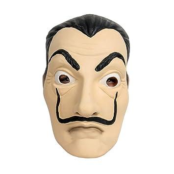 Halloween Anime Máscaras La Casa De Papel Tarjeta Casa Dali Mask Fiesta Cosplay Show Atrezzo