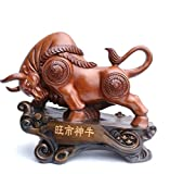 GL&G Lucky Cattle Resin Crafts modern Chinese living room office Tabletop Scenes Decorations High-end Business gift Ornaments Keepsakes,B,472240cm