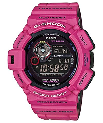 G-Shock GW-9300SR-4 Master of G Man in Sunrise Mudman Luxury Watch - Purple / One Size (Gshock Watches Master Of G)
