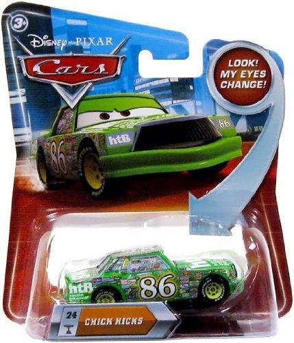 (CHICK HICKS #24 w/ Lenticular Eyes Disney / Pixar CARS 1:55 Scale Die-Cast Vehicle)