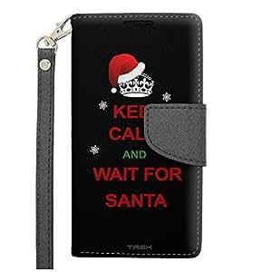 Samsung Galaxy Avant Wallet Case - KEEP CALM and Wait for Santa on Black