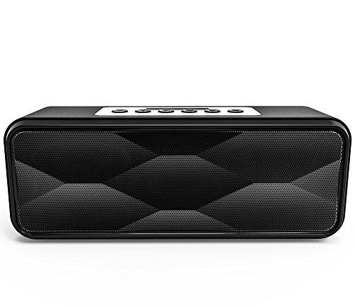 Bluetooth Speakers,Wewdigi HIFI DTS-HD Technolog Portable Wireless Bluetooth Speaker Stereo (Black)