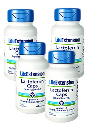 Life Extension Lactoferrin (apolactoferrin) Caps, 60 Capsules - Discount 4-Pak by Life Extension