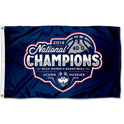 University of Connecticut Women's 2014 Basketball Champs Flag Large 3x5 (Flag Womens Pennant)
