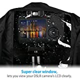 Powerextra Professional Waterproof Camera Rain Cover Protector for Canon Nikon Sony Pentax and Other Digital SLR Cameras, Great for Rain Dirt Sand Snow Protection (Black)