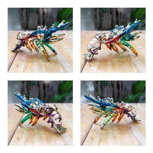 Handmade Lobster Art Art Glass Blown Sea Animal Figurine