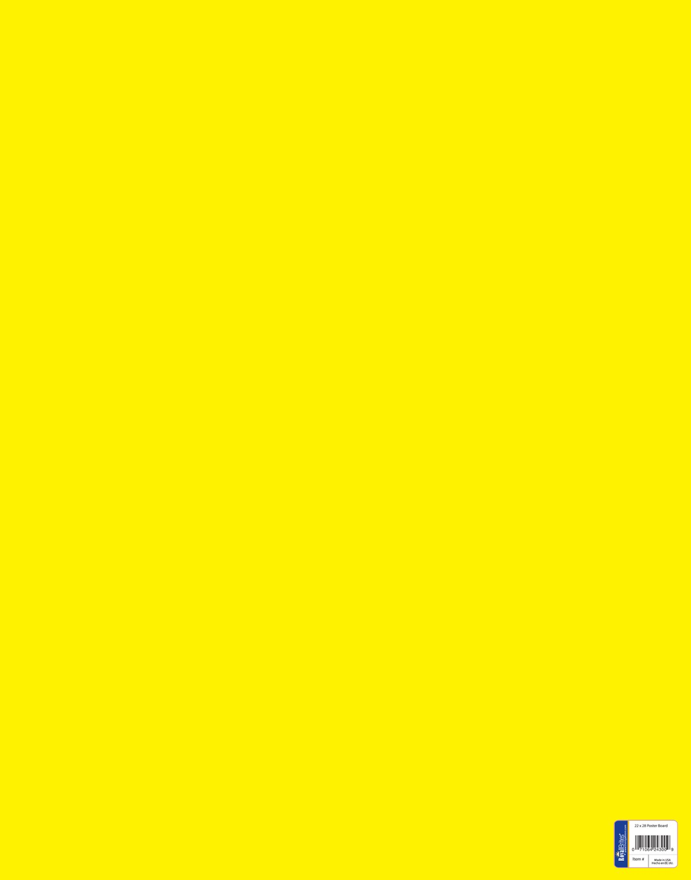 Royal Consumer Poster Board, Fluorescent Canary, 22 x 28 Inches, Pack of 25 (23302B)
