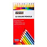YOYA 551-12 Color Pencil Wooden Long Handle, 12 Assorted Color, Pack 1 pcs.
