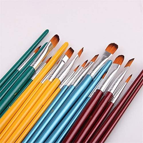 化粧筆 水彩オイルはアクリル画の絵画に適し5つのナイロンブラシセットアート絵画ツール 化粧ブラシセット (色 : 緑, Size : FREE SIZE)