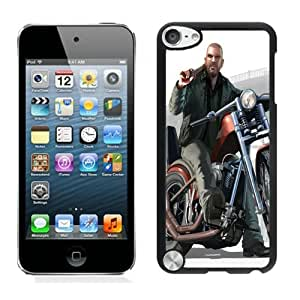 Easy Set,Game Case with Johnny Biker Gta 4 Lost And Damned Johnny Klebitz Motorbike Ipod Touch 5th Phone Case in Black