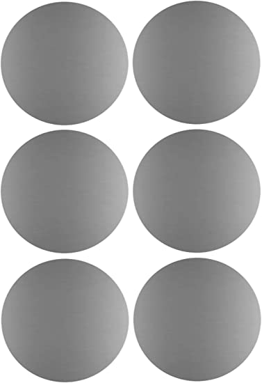 """SILVER 1/"""" Round Stickers Color Code Inventory Label Dot Stickers Package Seals"""