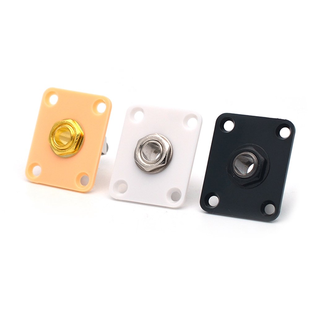 as described Square Electric Guitar Output Jack for Gibson Les Paul Guitar Parts Accessories Yellow