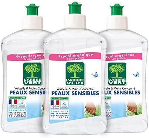 LArbre Vert - Líquido lavavajillas (500 ml, lote de 3 unidades ...
