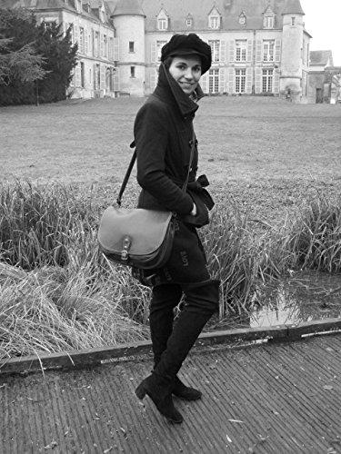 à Sac Noir main Verlaine lisse femme Modèle BAG MY cuir OH xqRaBUa