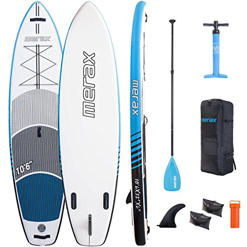 Merax 10 6 Inflatable SUP Stand Up Paddle Board Wide Stance 6 Thick Double Layer ISUP with Adjustable Paddle, Travel Backpack Youth and Adult
