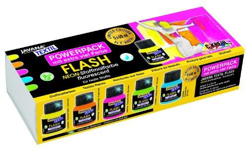 Javana 91922 - Stoffmalfarben Flash Power Pack Limited Edition, 5 x 60 ml