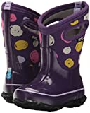 Bogs Kids' Classic High Waterproof Insulated Rubber Neoprene Rain Snow Boot, Sketched Dots Print/Purple/Multi, 11 M US Little Kid