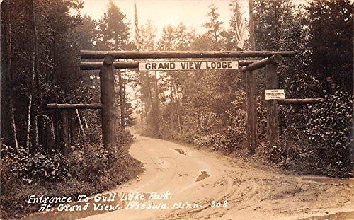 Entrance to Gull Lake Park Nisswa, Minnesota postcard