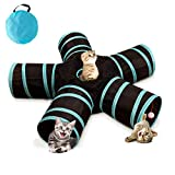 Upgrade 5 - Way Cat Tunnel Collapsible Cat Tube with Peek Hole