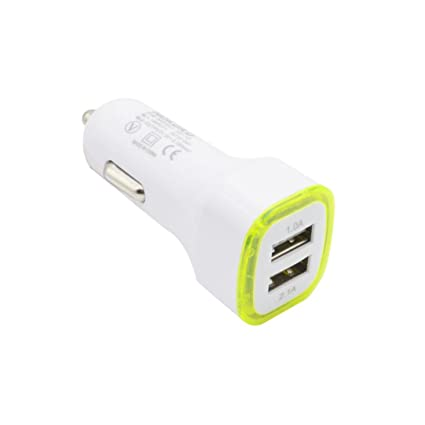 Quaanti 2017 3.1A LED lamp Cargador USB Dual 2 Ports Charging Adapter Socket Car Charger
