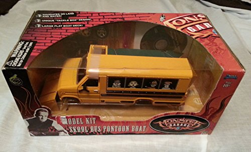Monster Garage Model Kit Skool Bus Pontoon Boat (Skool Bus)