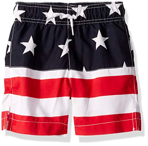 Places Flag - The Children's Place Big Boys' Graphic Printed Swim Trunks, Tidal, XL (14)