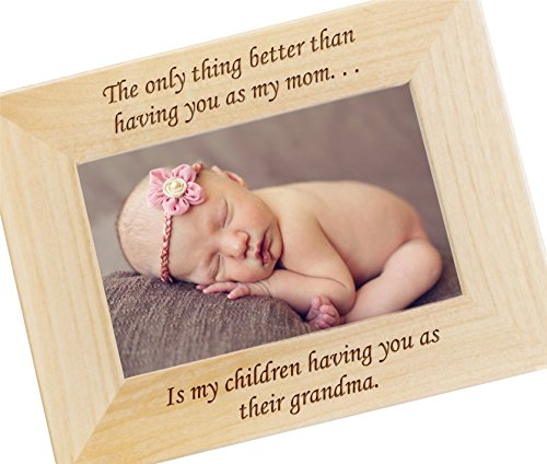 Personalized The Only Thing Better Than Having You As My Mom... Custom Engraved Photo Frame for Mother's Day - WF12