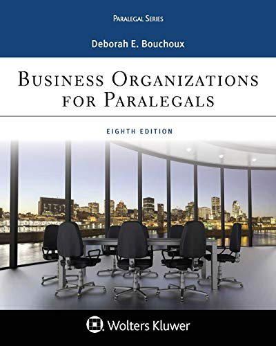 Pdf Law Business Organizations for Paralegal