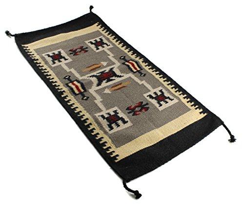 Onyx Arrow Southwest D cor Wool Area Rug, 20 x 40 Inches, Lusitano
