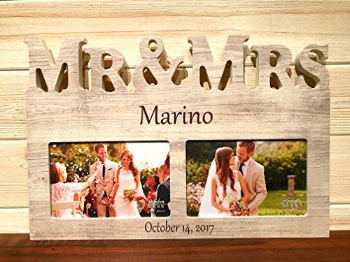 Mr & Mrs Frame Laser Engraved Personalized Custom Photo Frame 149 by (Laser Engraved Pictures)