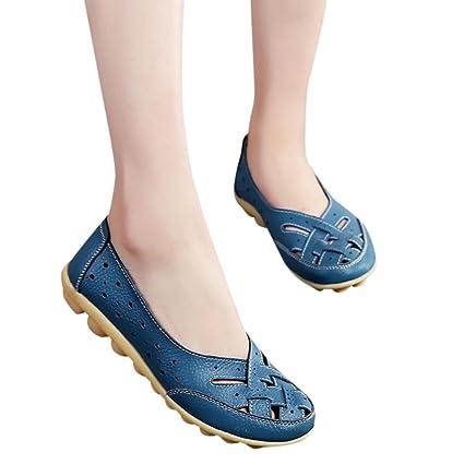 Calzado Chancletas Tacones Zapatos de Mujer Sandalias de Señora Flats Tobillo de Cuero Zapatilla Casual Zapatos