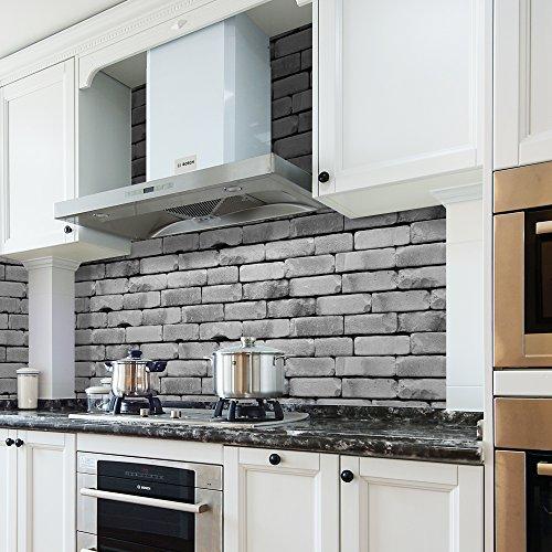 Details about Kitchen Wall Decor Sticker Backsplash Subway Tile Peel Stick  Floor Decal Roll
