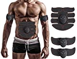 MuscleT Abs Stimulator Muscle Toner Trainer EMS Abdominal Trainer Ultimate Ab Stimulator for Abdominal Work Out Abs Power Fitness Abs Training Gear Flex Belt Workout Equipment Portable (Red)