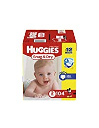 Huggies Snug & Dry Diapers, Size 2, 104 Count (Packaging May Vary) BOBEBE Online Baby Store From New York to Miami and Los Angeles