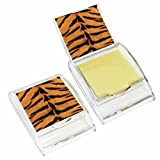 Tiger Print Sticky Note Holder - Wildlife Animal Theme Design - Stationery Gift - Office Business School Supplies