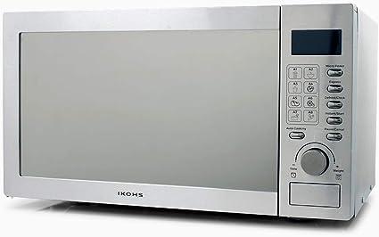 IKOHS Microondas HW800S Plateado - Microondas, 800W,Capacidad de 23L, 5 Niveles de Potencia, Temporizador hasta 30 minutos, Menú Automático 8, Cocción Multifrecuencia, Dispone de Reloj Digital: Amazon.es: Hogar