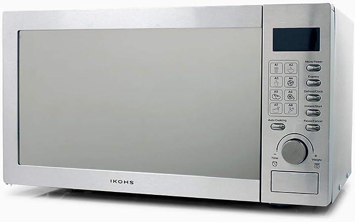 Opinión sobre IKOHS Microondas HW800S Plateado - Microondas, 800W,Capacidad de 23L, 5 Niveles de Potencia, Temporizador hasta 30 minutos, Menú Automático 8, Cocción Multifrecuencia, Dispone de Reloj Digital