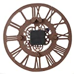 Lily's Home Hanging Wall Clock, Steampunk Gear and Cog Design with a Bronze Finish, Ideal for Indoor or Outdoor Use, Poly-Resin (12 Inches Diameter) 8