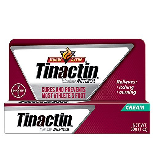 Tinactin Athlete's Foot Cream, Tolnaftate 1%, Antifungal, AF Treatment, Proven Clinically Effective on Most Athlete's Foot and Ringworm, Cream, 1 Ounce, 30 Grams, Tube ()