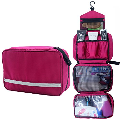 Relavel Cosmetic Pouch Toiletry Bags Travel Business Handbag Waterproof Compact Hanging Personal Care Hygiene Purse (Hot…