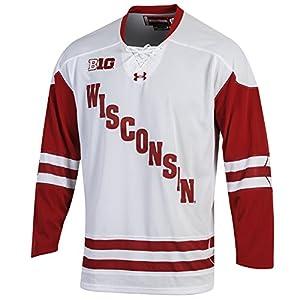 2494b1eee58 Amazon.com   NCAA Wisconsin Badgers Men s Hockey Jersey