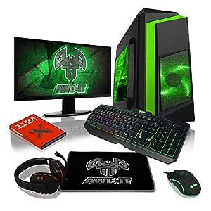 ADMI GAMING PC PAQUETE: Potente ordenador de sobremesa, 21