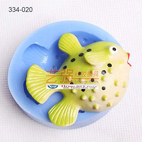 - 1 piece size 686022mm Tropical Fish shape siliocne clay mold Fondant cake mould baking cookie handmade chocolate mold