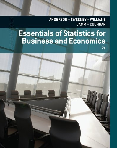 Download By David R. Anderson Essentials of Statistics for Business and Economics (7th Seventh Edition) [Hardcover] PDF