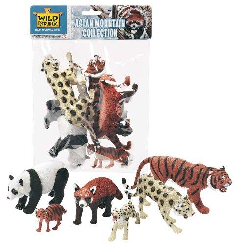 (Wild Republic Asian Mountain Polybag, Kids Gifts, Educational Toys, 6-Piece)