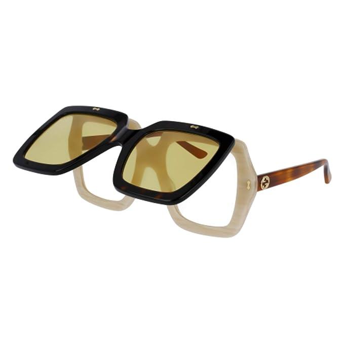 Gucci GG0088S 003, Gafas de Sol para Mujer, Marrón (Avana/Yellow)