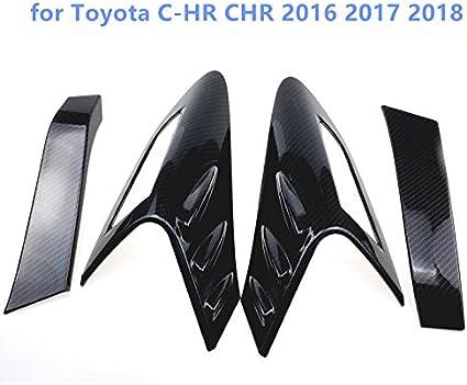 Für C Hr 2016 2017 2018 2019 Exterieur Kohlefaserfarbe Rücklichter Dekor Abs Kunststoff 4 Stück Auto